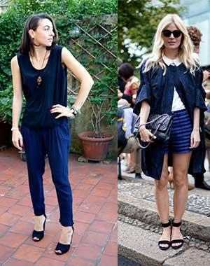 Jeans blu e scarpe nere