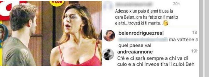 """Belen contro una fan su Fb: """"Bella mia, non ho bisogno, io sono ricca"""""""