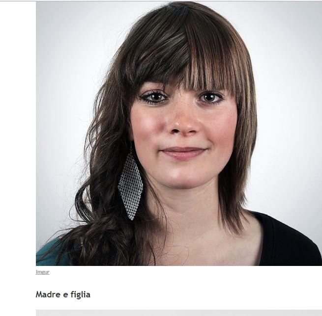 No, queste non sono 2 donne nella stessa foto. Devi guardare più da vicino per capire. Straordinario